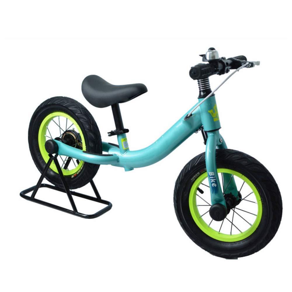 YSH 12 & 039;& 039; Carbon Steel Frame Slide Bike Kind Balance Bikes Licht KorrosionsBesteändig Kinder Radfahren Für 2-6 Jahre Alt Kinder,Grün