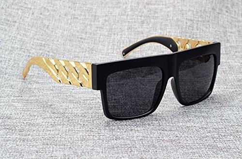 famosa dorado Gafas Kardashian de Kim metal en con inspirado sol Aprigy de famosa Beyonce la estilo 3 Fashion vintage 3 cadena 6wx5vqT5E