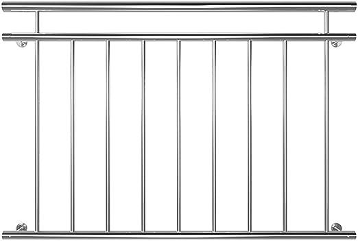 225CM Balkongeländer V2A Stabgeländer Balkon Edelstahl Ballustrade Fenstergitter