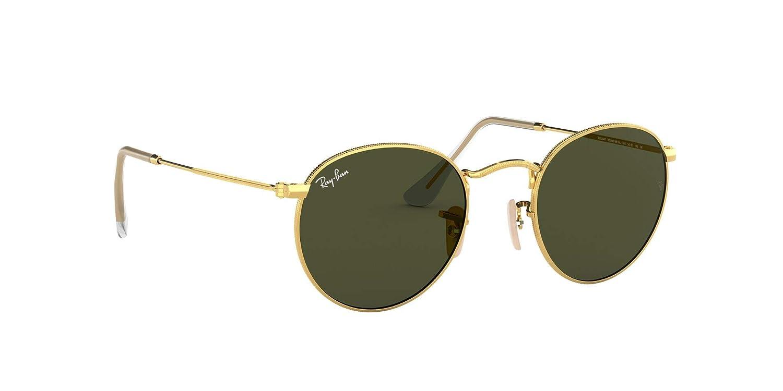 Ray-Ban runda metallsolglasögon Guld