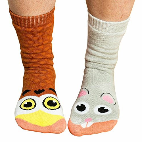 Ladies Pals Owl and Mouse Socks - 1 Size Fits Most