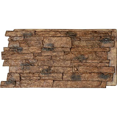 (Ekena Millwork PNU24X48ALCB Acadia Ledge Stacked, Stonewall Faux Stone Siding Panel, 48