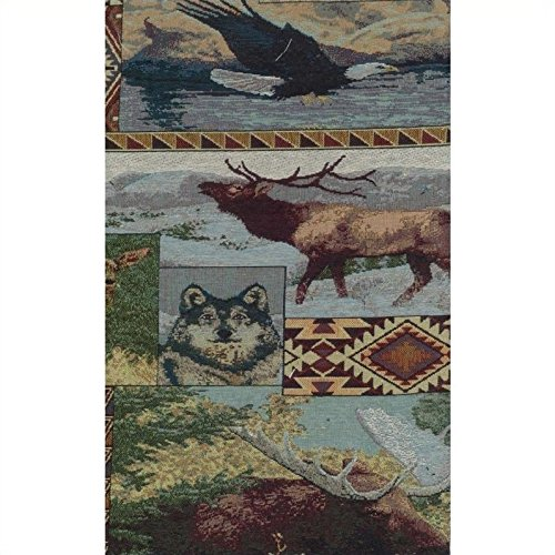 Print Futon Covers Animal - Blazing Needles Tapestry Full Size Futon Cover in The Wild North-8