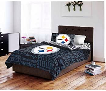 Amazon.com: NFL Pittsburgh Steelers Bedding Set, Queen ...