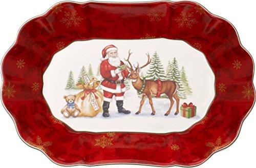 Villeroy & Boch Toys Fantasy Large Oval Bowl, Porcelain, Red, 30.5 x ...