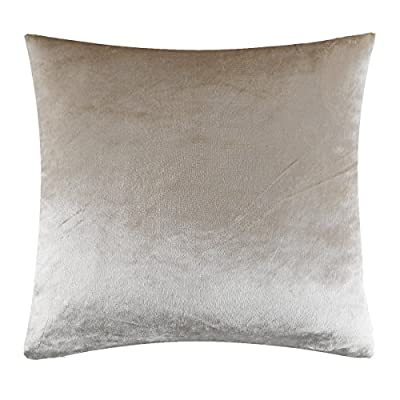 "GIGIZAZA Ivory Off White Velvet Decorative Throw Pillow Cushion Cover 20 inch Pillow Cases for Sofa Bed (20x20inch(50x50cm), Champing) - Shinny velvet soft touch fabric . Material:Made by High Quality Velvet Comforter and Durability Fabric . Quantity:Sold by One Piece Pillow Cover ( Insert not Include ) Feature:Champing Colorway , size 20 x 20"", Tailored for 20 x 20 inch insert . Same Pattern & Color for Both Front and Back. - living-room-soft-furnishings, living-room, decorative-pillows - 51rkmW0ji%2BL. SS400  -"