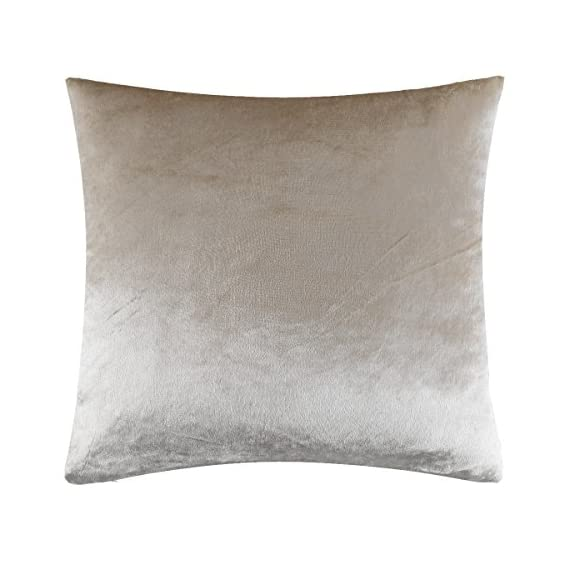 """GIGIZAZA Ivory Off White Velvet Decorative Throw Pillow Cushion Cover 20 inch Pillow Cases for Sofa Bed (20x20inch(50x50cm), Champing) - Shinny velvet soft touch fabric . Material:Made by High Quality Velvet Comforter and Durability Fabric . Quantity:Sold by One Piece Pillow Cover ( Insert not Include ) Feature:Champing Colorway , size 20 x 20"""", Tailored for 20 x 20 inch insert . Same Pattern & Color for Both Front and Back. - living-room-soft-furnishings, living-room, decorative-pillows - 51rkmW0ji%2BL. SS570  -"""
