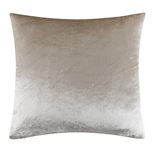 51rkmW0ji%2BL - GIGIZAZA Luxury Shinny Velvet Silver Grey Decorative Throw Pillow Cushion Cover (20x20inch(50x50cm), Champing)