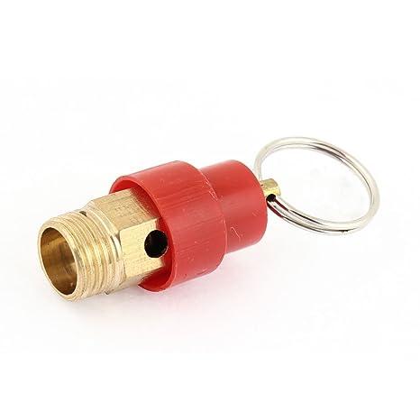 """Sourcingmap - Compresor de aire roja 1/4""""válvula de alivio de presión de"""