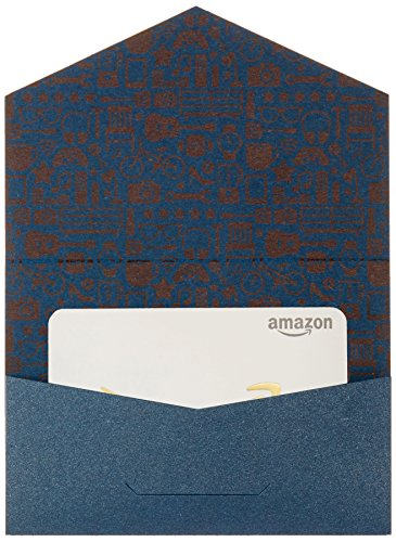 Large Product Image of Amazon.com Gift Card in a Mini Envelope (Navy and Gold)