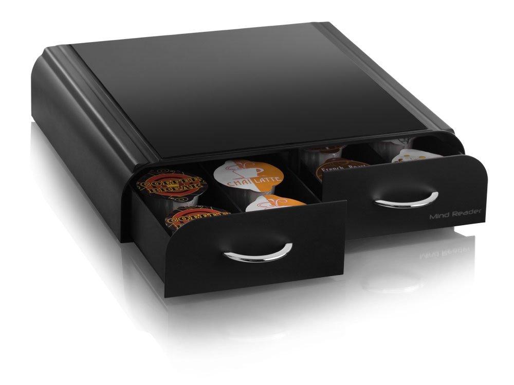 Mind Reader VUETRYAC-BLK-AC''Anchor''Coffee Pod Storage Drawer for Tassimo T-Discs,Vertuoline Nespresso Capsules- Black
