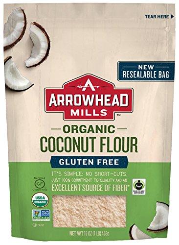 Arrowhead Mills Organic Gluten Free Coconut Flour, 16 oz. - Bread Mills Mix Arrowhead