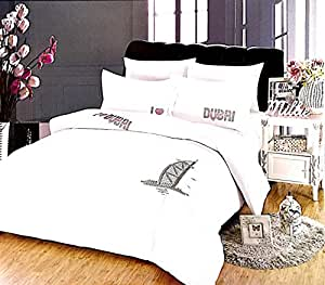Olive King Size 6pcs Set Paste Drill Duvet Cover