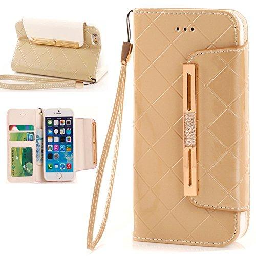 iPhone 7 Plus Wallet Case,iPhone 7 Plus Case,Lincde Linycase Elegant PU Leather Case Wallet Flip Stand [Flap Closure] Case+Lanyard for iPhone 7 Plus 5.5