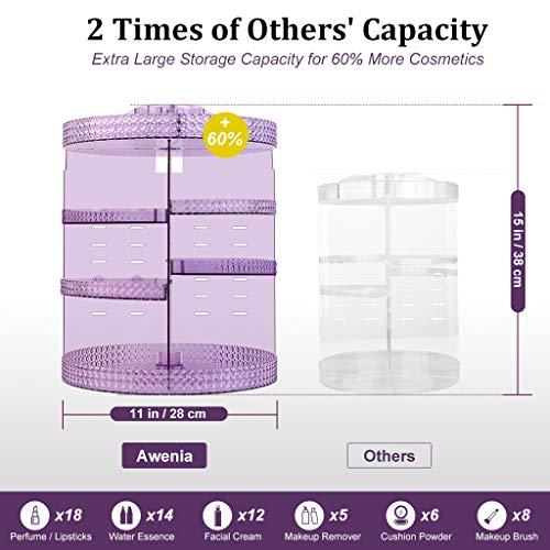 Awenia Makeup Organizer 360-Degree Rotating, Adjustable Makeup Storage, 7 Layers Large Capacity Cosmetic Storage Unit… 2