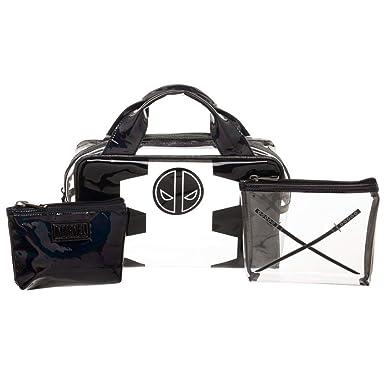 af95e274af6f Amazon.com: Deadpool 3 Piece Travel Toiletry Cosmetic Make up Bag ...