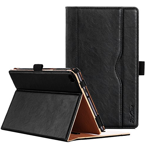 ProCase ASUS ZenPad 8.0 Z380M Case (2015 ZenPad Z380C,Z380CX,Z380KL) - Stand Cover Folio Case for ASUS ZenPad 8.0 8-Inch Tablet, Multiple Viewing Angles, Document Card Pocket (Black)