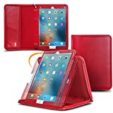 iPad Pro Case, Apple iPad Pro 12.9 Case, rooCASE Genuine Executive Portfolio Case Cover for Apple iPad Pro 12.9-inch Tablet (2015), Red