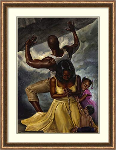 Framed Art Print 'Behind Every Great Man' by WAK-Kevin A. Williams: Outer Size 34x44