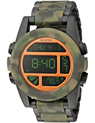 Nixon Mens A3601428-00 Unit SS Digital Display Japanese Automatic Multi-Color Watch