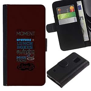 All Phone Most Case / Oferta Especial Cáscara Funda de cuero Monedero Cubierta de proteccion Caso / Wallet Case for Samsung Galaxy S5 V SM-G900 // ABSTRACT TYPOGRAPHY