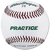 Macgregor 79PY Boys Practice Baseball, White, Youth (One Dozen)