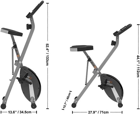 ATIVAFIT - Bicicleta estática plegable magnética vertical, Asiento ...