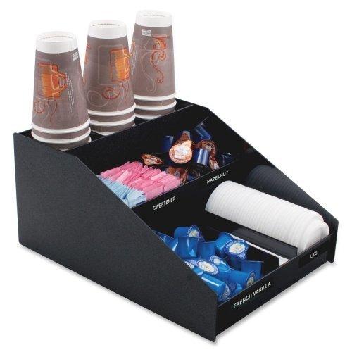 (Advantus Corp. VFCC1200 Horizontal Condiment Organizer, 12w x 16d x 7 1/2h, Black)