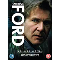 Harrison Ford: The Complete 5 Movies Collection - Frantic + Presumed Innocent + The Fugitive + Firewall + 42 (5-Disc Box Set) (Slipcase Packaging + Fully Packaged Import)