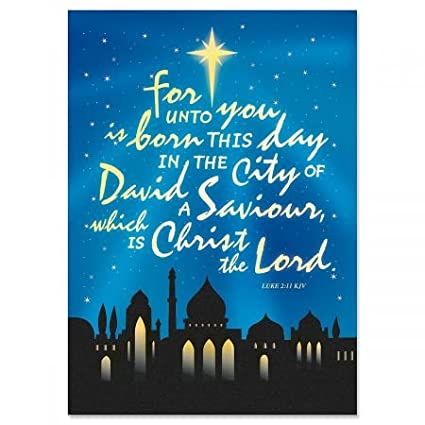 bethlehem personalized religious christmas cards set of 18 holiday greeting cards - Religious Christmas Cards