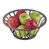 Kitchen Table Centerpieces mDesign Fruit Basket Centerpiece Bowl for Home, Kitchen, Dining Room - Bronze