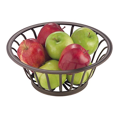 mDesign Fruit Basket Centerpiece Bowl for Home, Kitchen, Dining Room – Bronze
