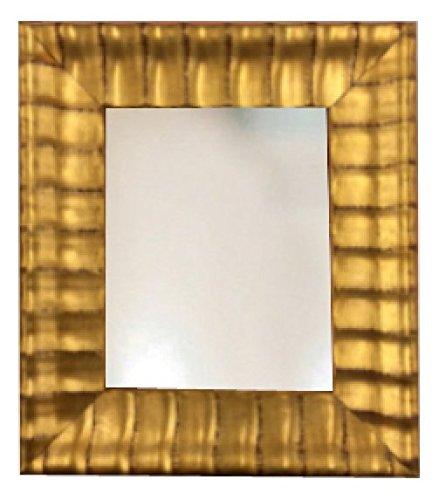 Wide Gold Wavy Wood Picture Framed Wall Mirror 8x10 11x14 16x20 24x26 24x36 20x40 30x40 (8x10)