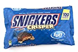 Snickers Crisper Chocolate Candy Bars, Fun Size 10.61 Ounce Bag (Pack of 3)