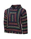 El Paso Designs Mexican Style Baja Hoodie (Large, Retro)