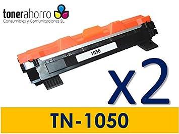 TonerAhorro ® PACK 2 UD TN1050 TN-1050 tóner 1500 páginas ...