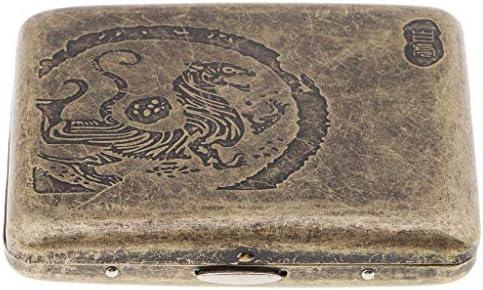 Baoblaze Metal Caja Vintage Almacenamiento de Cigarros Cajita con Escultura Retra Regalo Ideal para Hombres - H: Amazon.es: Hogar