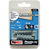 Molly M24606-XJ 9 x 45 mm 25 kg Solid Fixing Thermal Block Plug (6-Piece)