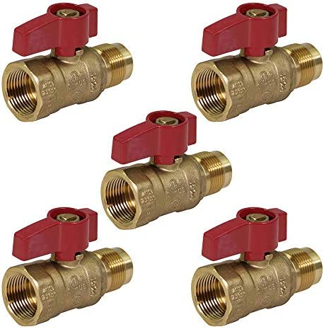 NIGO 2450DE Series Forged Brass Ball Valve Rated to 600WOG 3//4 FIP x 3//4 FL Standard Port