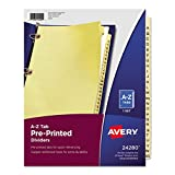 Avery Copper Reinforced Preprinted Dividers with A-Z Tabs, 25-Tab Set, 1 Set (24280)