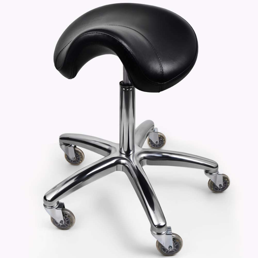 Professional Salon spa Saddle Chair and Tools Chair. The Saddle Chair has Wheels, Luxurious Cushion and a Solid Metal Skeleton.: Kitchen & Dining