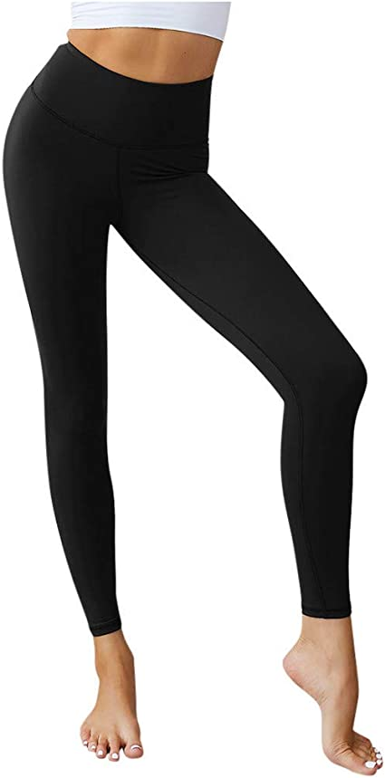 Ladies Seamless Basic Stretch Capri Sports Yoga Leggings Skinny Slim Pant