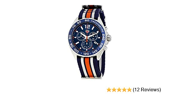 97dbf91adee Amazon.com  Tag Heuer Formula 1 Blue Chronograph Mens Watch CAZ1014.FC8196   Watches