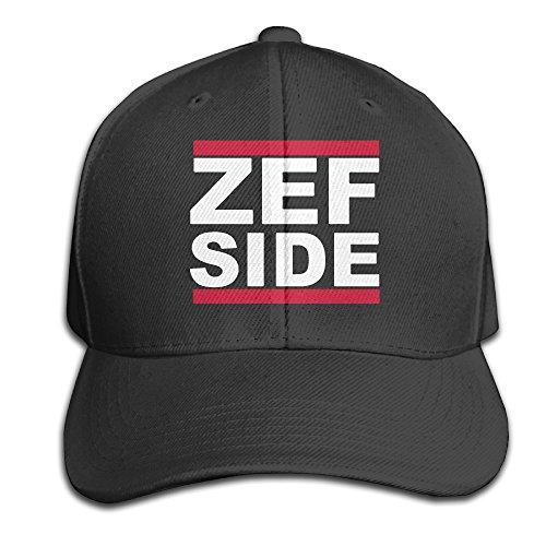 ZEF-SIDE-Adjustable-Black-Baseball-Cap-Hats