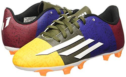 adidas J Messi Botas, Niños Blanco / Negro / Azul / Rojo