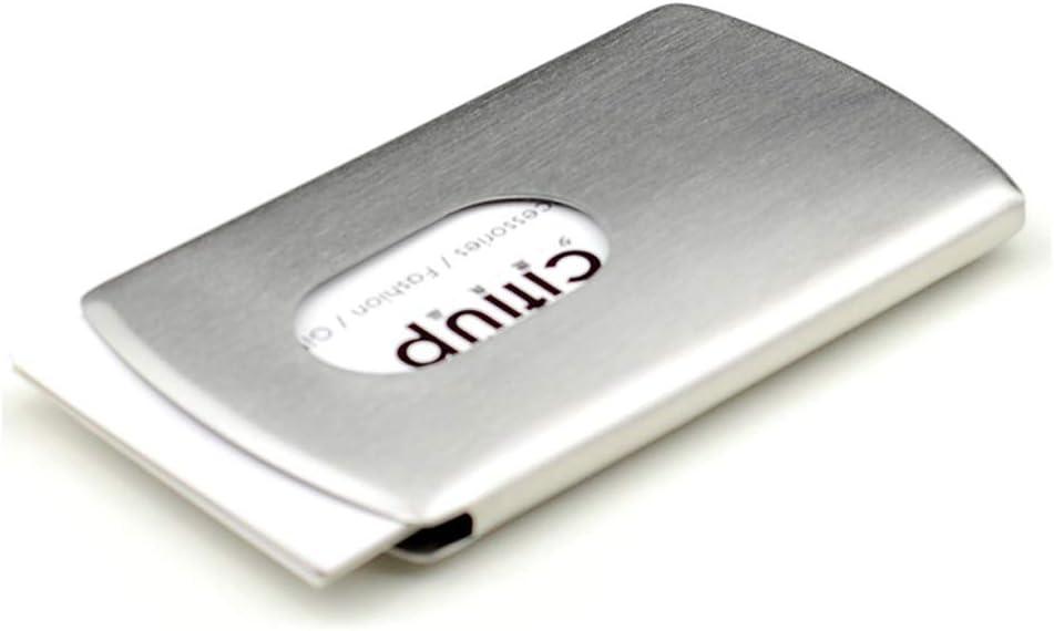 Titular de la tarjeta de visita Estuche para Tarjetas Empujar A Mano Metal Acero Inoxidable Cajas para Hombres Y Damas Regalo Creativo Empresarial Estuche para Tarjetas De Visita Portátil