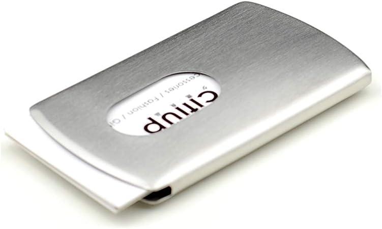 Titular de la tarjeta de visita Estuche para Tarjetas Empujar A Mano Metal Acero Inoxidable Cajas para Hombres Y Damas Regalo Creativo Empresarial Estuche para Tarjetas De Visita Portátil: Amazon.es: Hogar