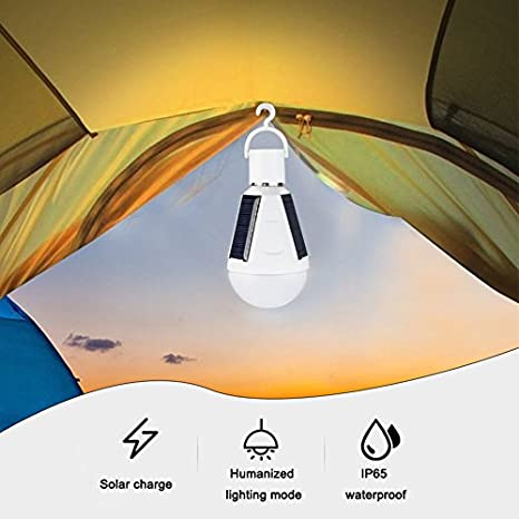 Amazon.com: Cold White, 7W : Smart 7W 12W AC85-265 Bombillas LED E27 Rechargeable Solar Panel lamp Waterproof IP65 Portable Camping Emergency Lighting: Home ...