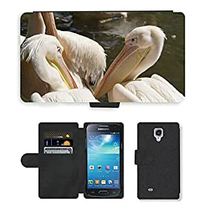 Hot Style Cell Phone Card Slot PU Leather Wallet Case // M00115287 Pelicans Bill Portrait Head // Samsung Galaxy S4 Mini i9190