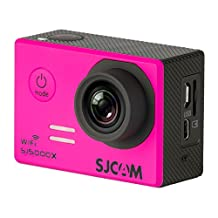 SJCAM SJ5000X Elite Action Camera 4K 24fps 1080P WiFi 2.0 LCD 12MP SONY I MX078 Gyro Sports Waterproof Cam DV/VCR/CAR/DVR Camcorder and OSD Enabled for Motorcycle Diving Siming (PINK)